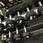 rubber fixed dumbbells